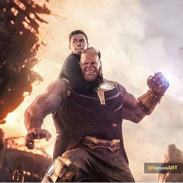 Syahril Ramadan en una foto junto a Thanos