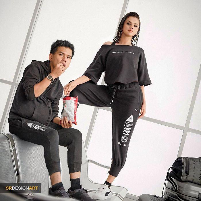 Syahril Ramadan en una foto junto a  Selena Gomez