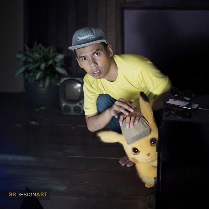 Syahril Ramadan en una foto junto a Pikachu