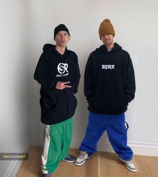 Syahril Ramadan en una foto junto a Justin Bieber