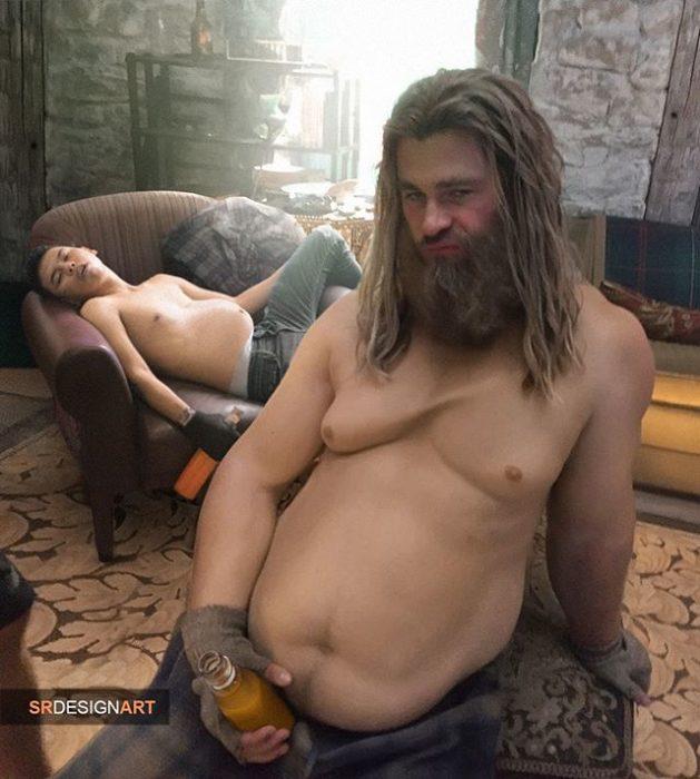 Syahril Ramadan en una foto junto a Thor