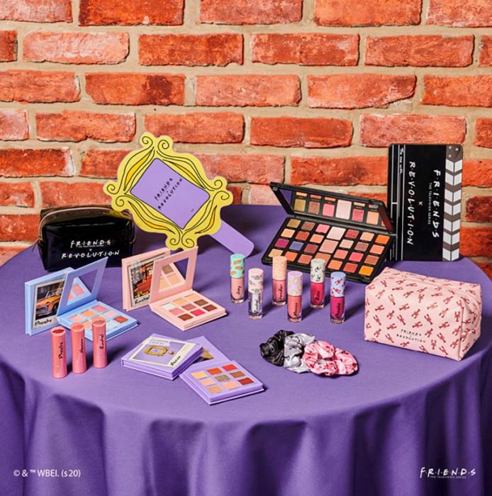 Revolution makeup collection inspired by the Friends series