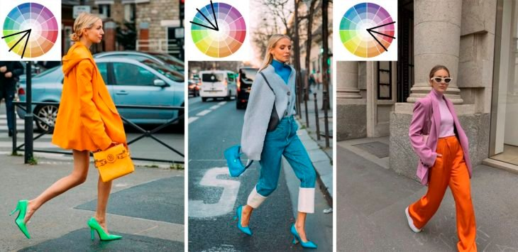 Outfits con colores análogos