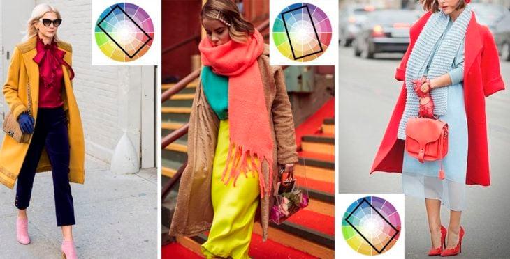 Outfits en combinación tetrada