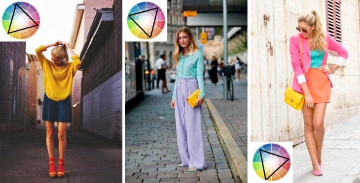 Outfits de combinación triádica