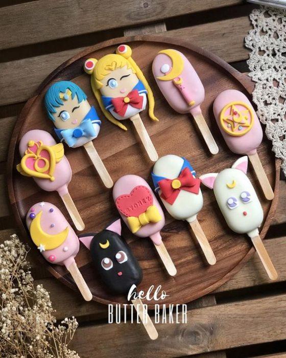 Helados decorados con los personajes de Sailor Moon