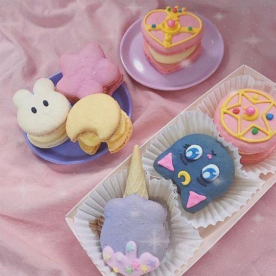 Macarons inspirados en personajes de Sailor Moon