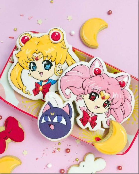 Galletas de mantequilla inspiradas en Sailor Moon