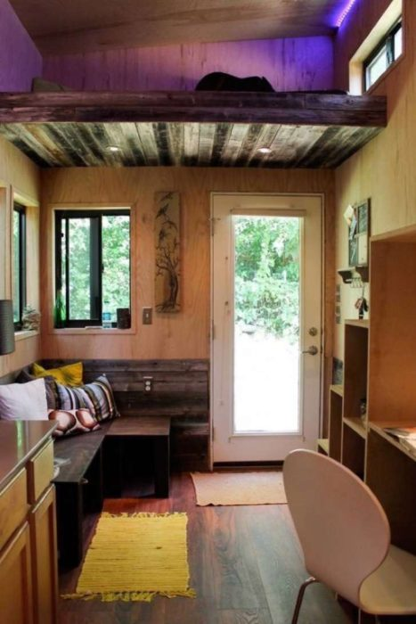 Casa pequeña de 14 metros cuadrados con sala