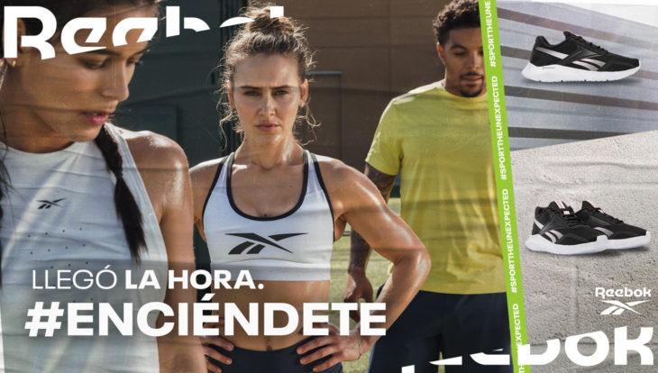 Mujer y hombre haciendo ejercicio con sus tenis Reebok, #Enciéndete