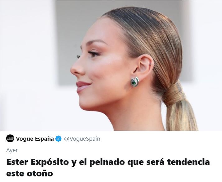 Tuits y memes de Ester Expósito y su coleta baja