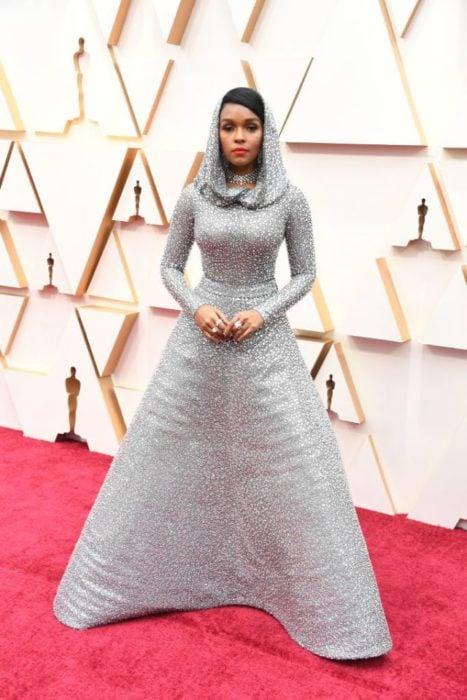 Janelle Monáe wearing 168,000 crystal-encrusted dress