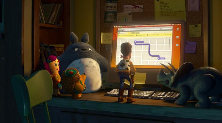 Escena de la película Toy Story en la que aparece Totoro