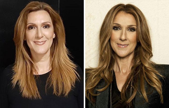 Céline Dion y su doble