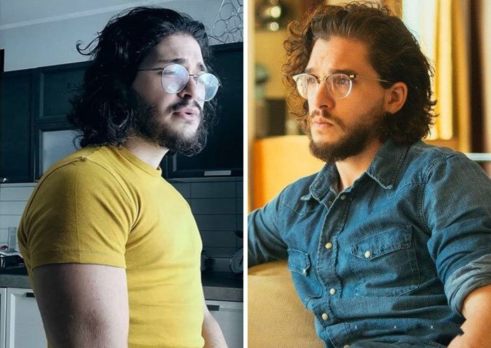 Kit Harington y su doble
