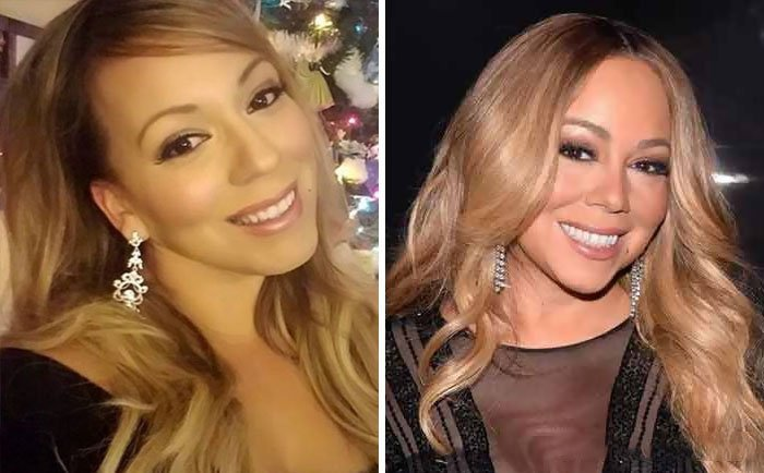 Mariah Carey y su doble