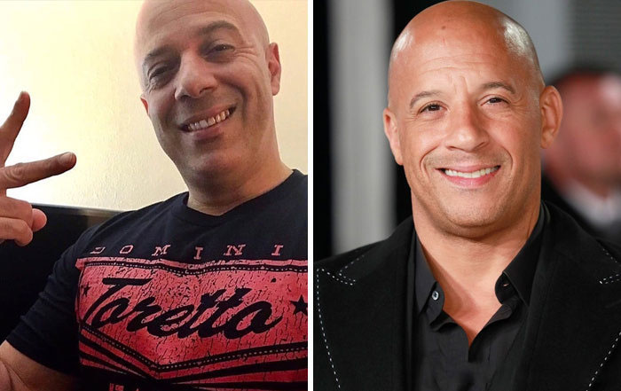 Vin Diesel y su doble