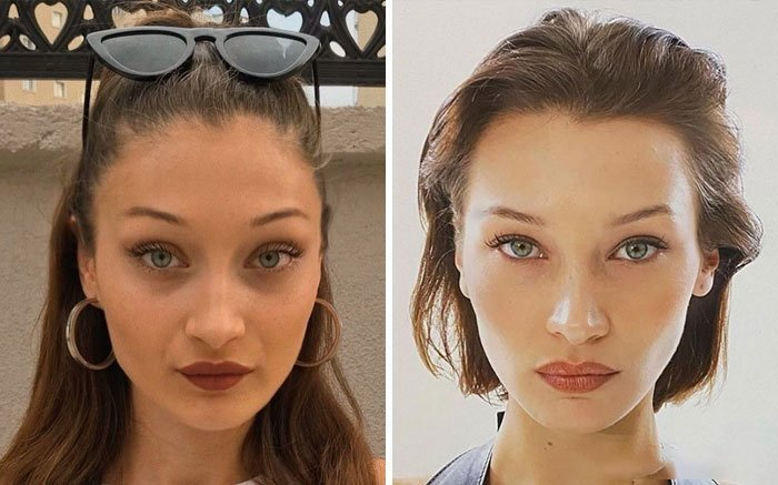 Bellad Hadid y su doble