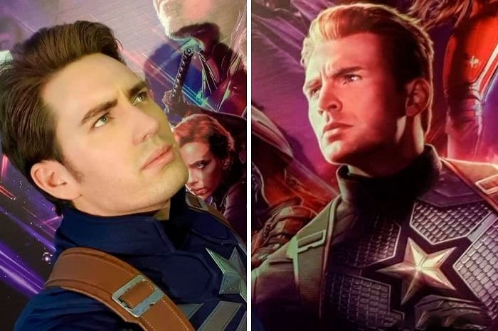 Chris Evans y su doble