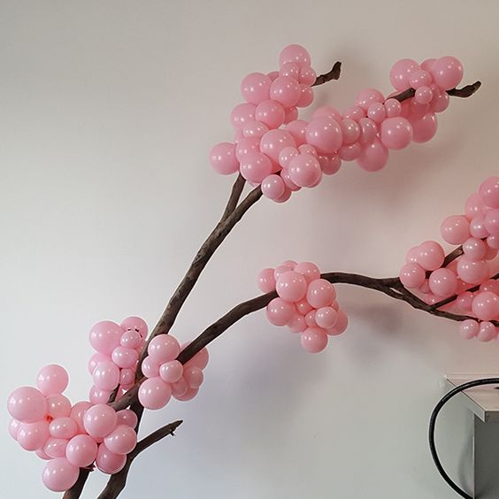 Globos para fiesta con forma de flor de cereza