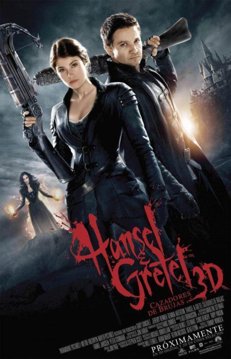 Poster de la película Hansel y Gretel cazadores de brujas