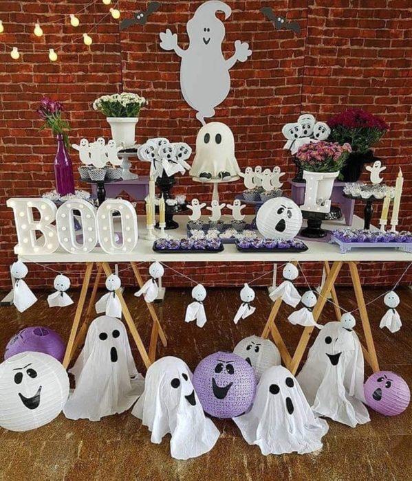 Mesa de dulces para halloween