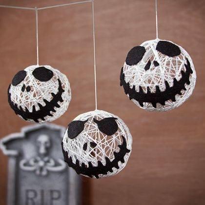 Esferas de estambre en forma de jack