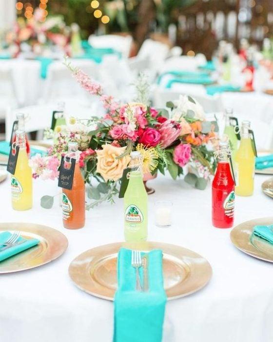 Centros de mesa para boda con jarritos