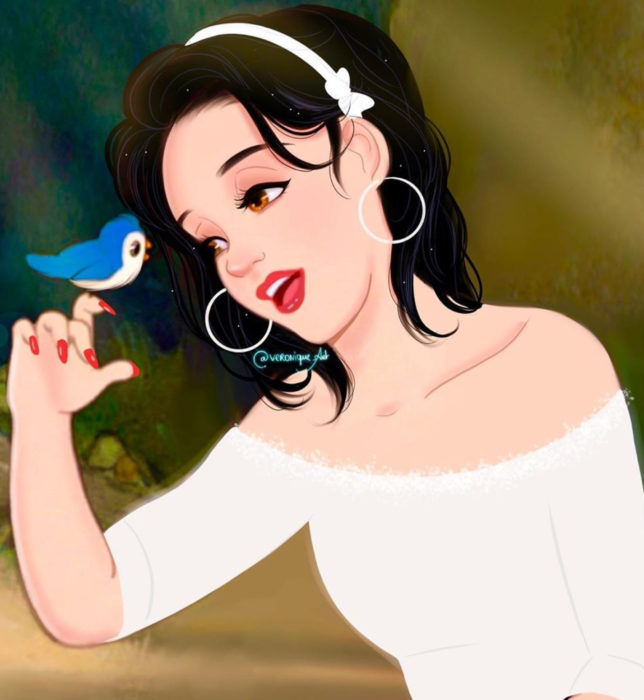 Artista francesa Véronique Pierre ilustra a princesas, príncipes y villanos Disney con un toque moderno; Blancanieves, snow White