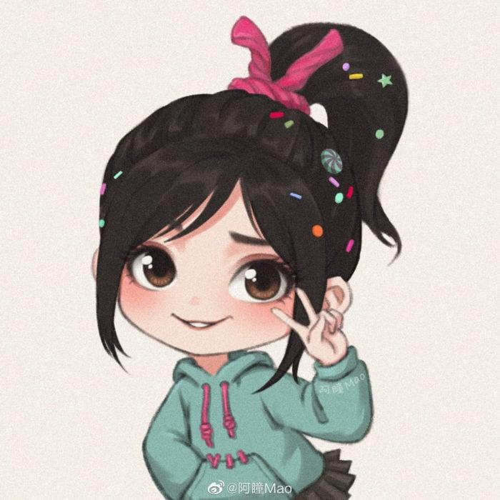 Artista china ilustra princesas Disney en versión tierna; Vanellope, Ralph, el demoledor