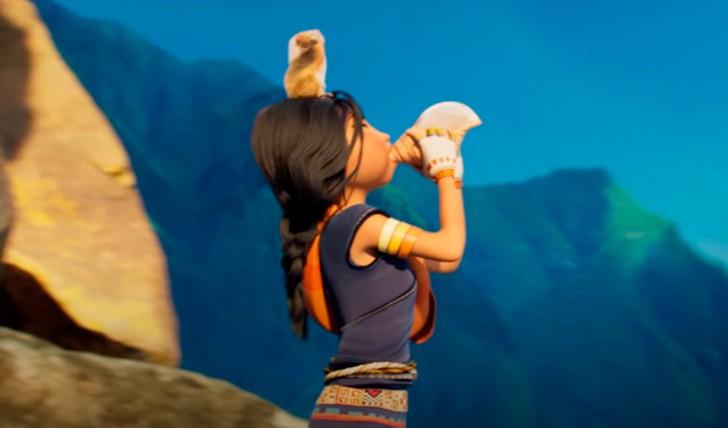 Kayara tocando un instrumento inca