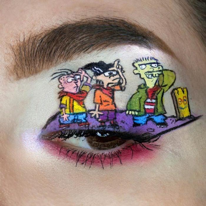 Maquillaje de ojos de ed edd y eddy