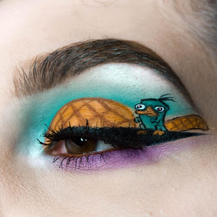 Perry the platypus eye makeup