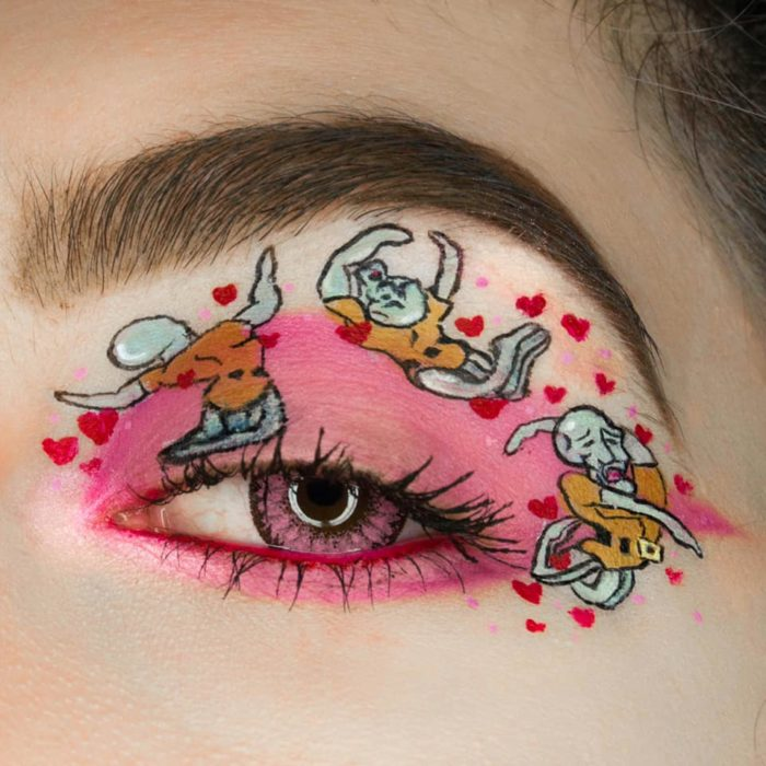 Maquillaje de ojos calamardo guapo