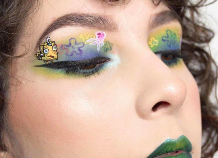 Maquillaje de ojo Bob esponja