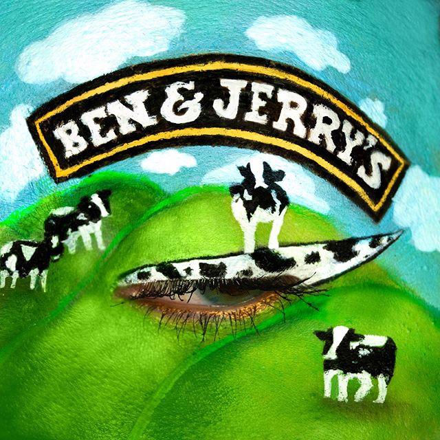 Maquillaje de ojos de Ben y Jerrys