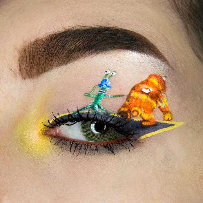 maquillaje de ojos Mosnters Inc
