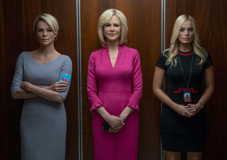 Escena de la película El escándalo con las tres protagonistas