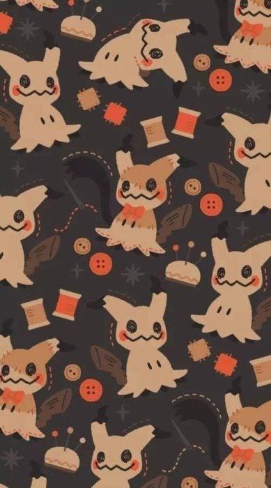 Fondo de pantalla inspirado en el pokémon Mimikyu
