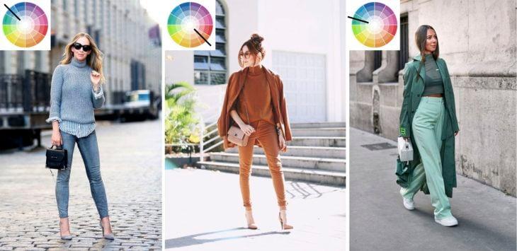 Outfits de colores monocromáticos