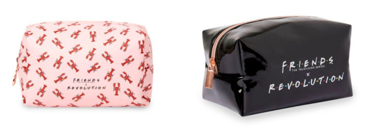Makeup bags from the Reevolution makeup collection inspired by Friends