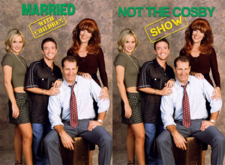 Nombres originales de series; Married with children, Not the Cosby show, Matrimonio con hijos