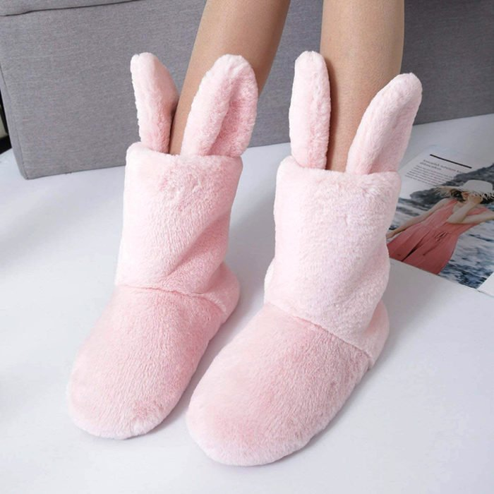 Cute, kawaii, cute pink rabbit slippers