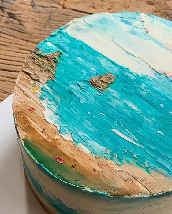 Pastel de la repostera Koike, inspirado en una bahía