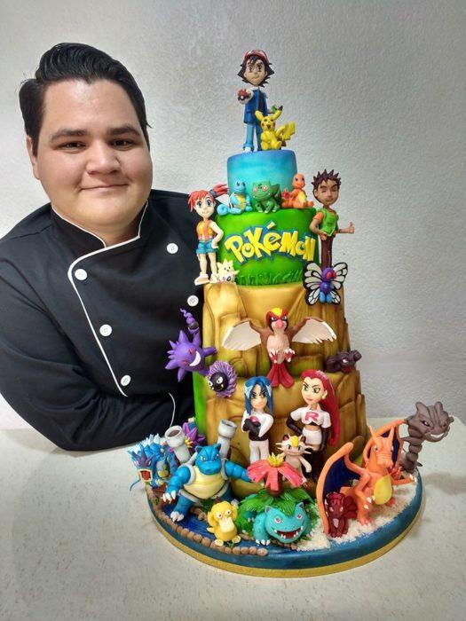 Pastel de fondant de Pokemon
