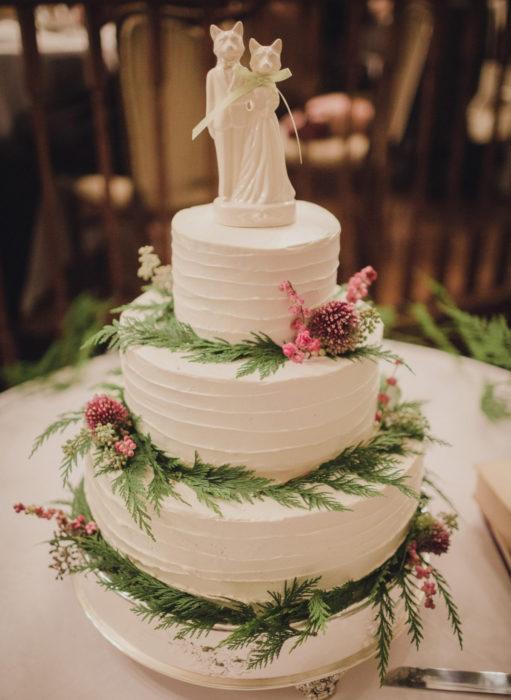 Pasteles de boda creativos y bonitos; de gatos