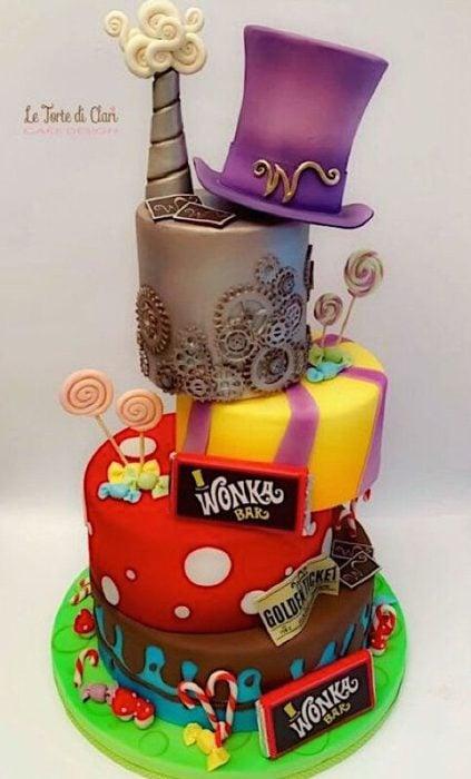 Pastel de Charlie y la fábrica de chocolates