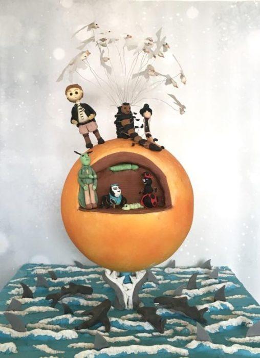 Pastel de Jack y el Durazno gigante