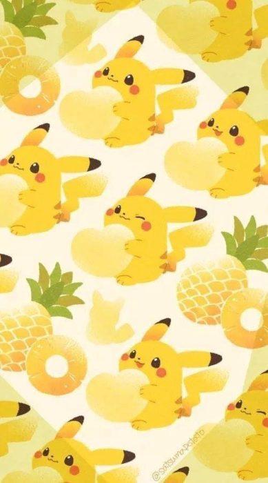 Fondo de pantalla inspirado en el pokémon Pikachu