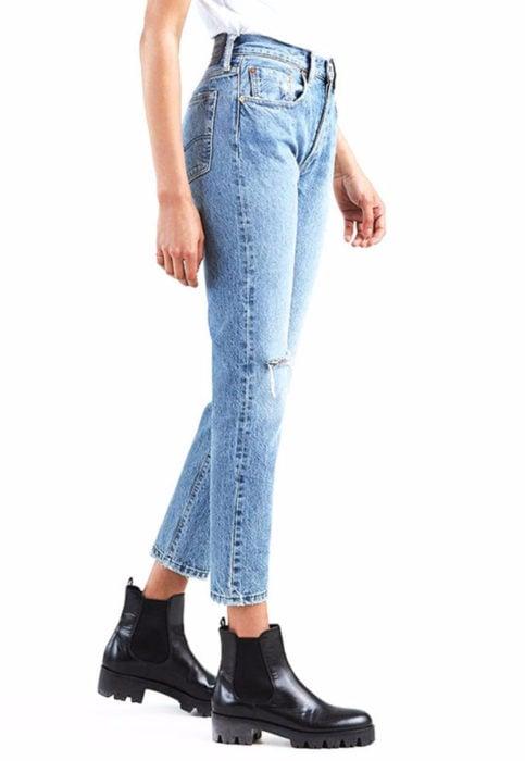 Jeans con corte recto